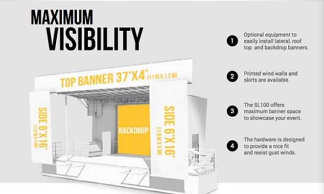 sl100 stage banners
