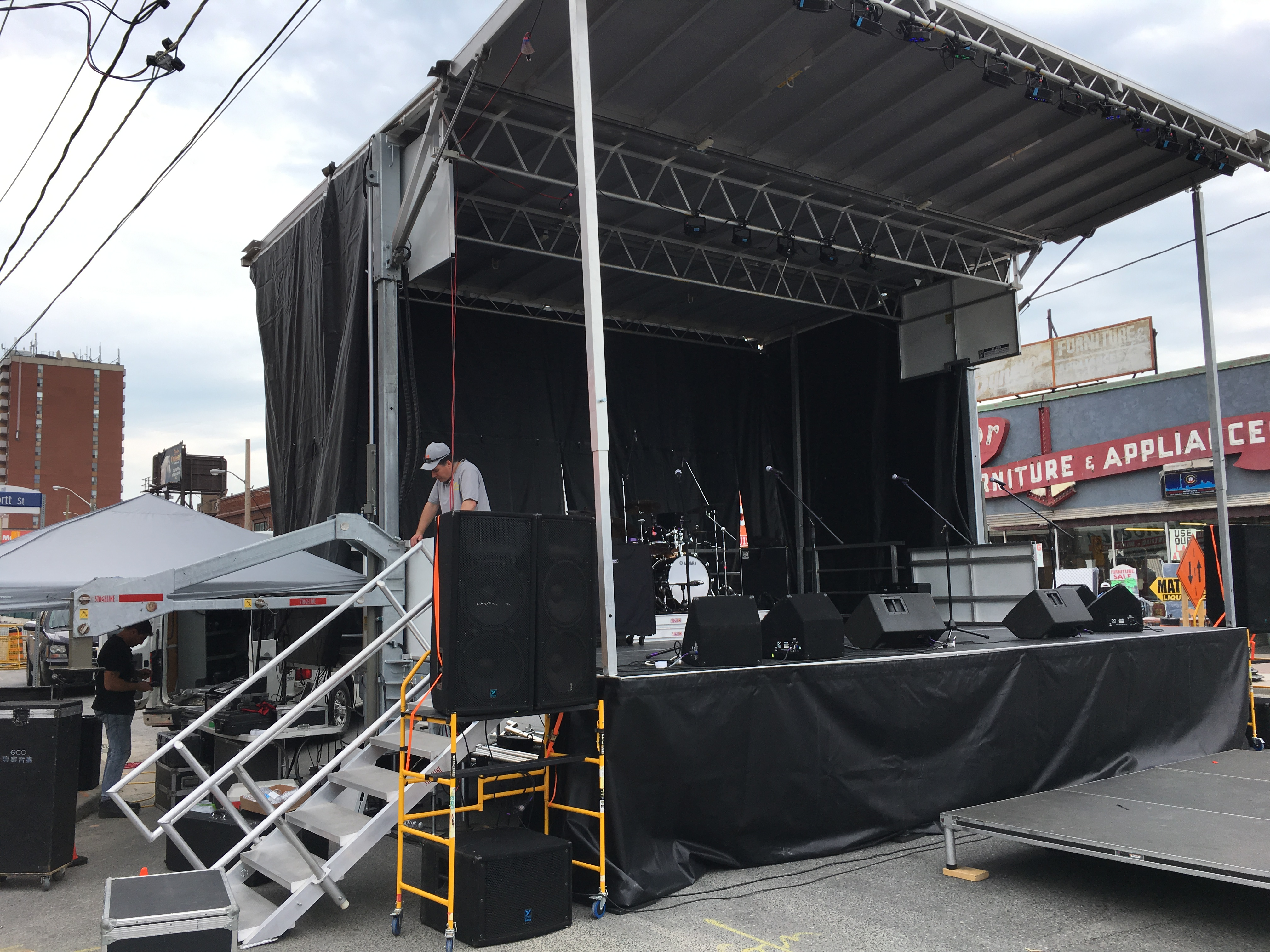 Rent a Stage SL100 Flavours of Fairbank Festival - Toronto