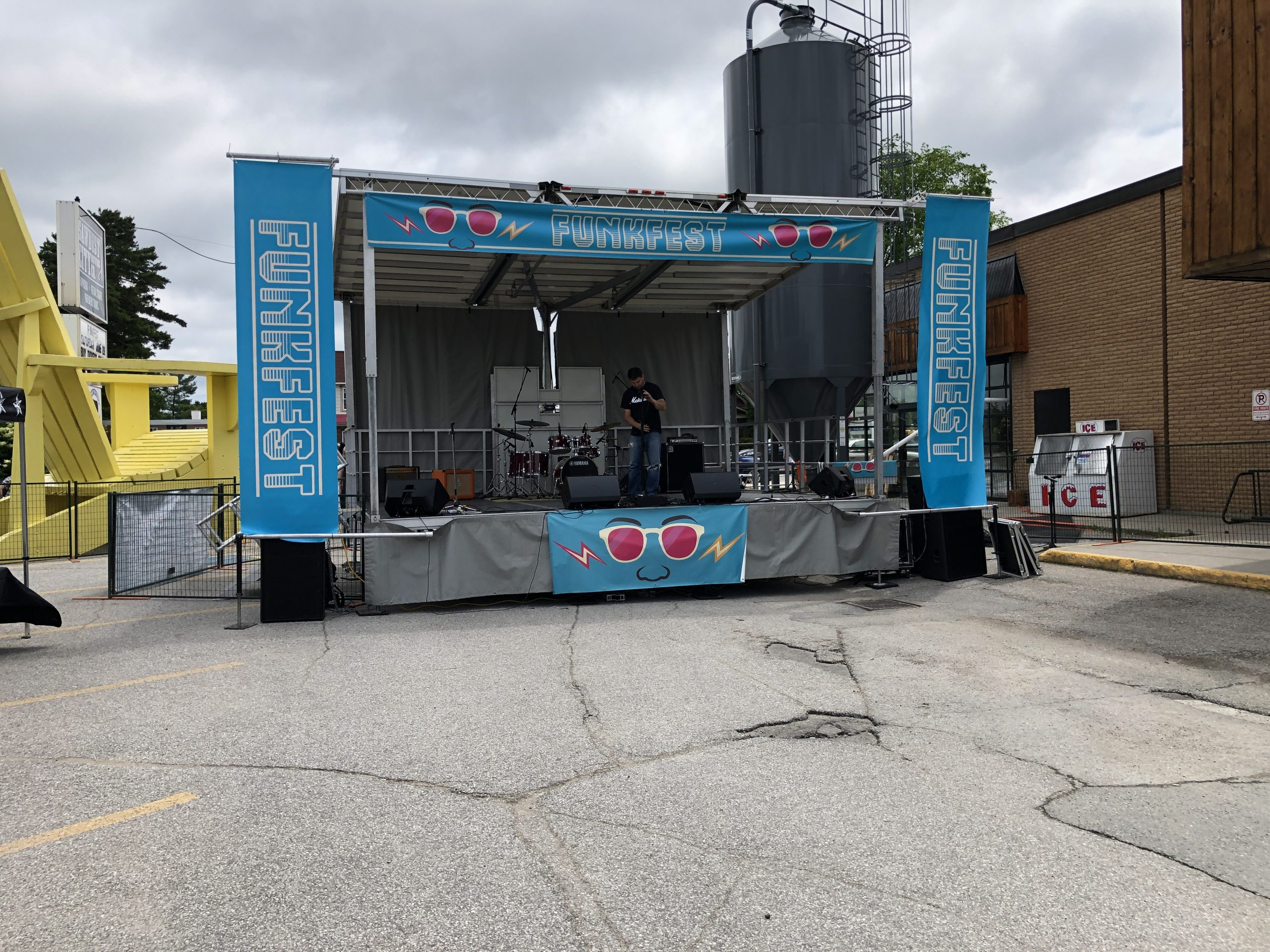 Rent a Stage SL50 at Funkfest in the Muskokas